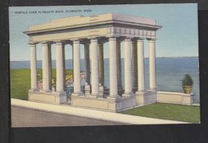 Portico Over Plymouth,MA Postcard