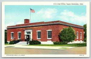 Upper Sandusky Ohio~United States Post Office~HE Kinley~1946 Linen Postcard