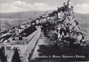 RP; Repubblica San Marino, Panorama a Fortezza, PU-1958