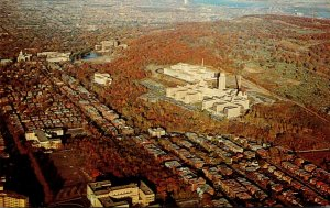 Canada Montreal Aerial View Of Mount Royal and Motreal University 1961
