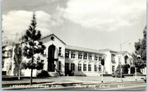 Santa Ana, California RPPC Real Photo Postcard LATHROP JUNIOR HIGH SCHOOL c1950s