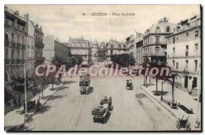 Old Postcard Beziers Place Garibaldi