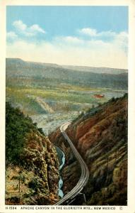 NM - Apache Canyon, Glorietta Mountains  (Fred Harvey Pub.)
