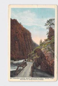 ANTIQUE POSTCARD NATIONAL STATE PARK ROCKY MOUNTAIN ESTES BIG THOMPSON CANYON UN
