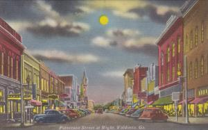 Patterson Street at Night, Valdosta, Georgia, 30-40s