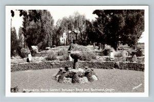 RPPC of Bend OR, Petersen's Rock Garden, Oregon Postcard