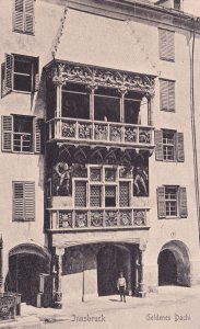 Innsbruck Hotel Goldenes Dachi Austria Antique Postcard