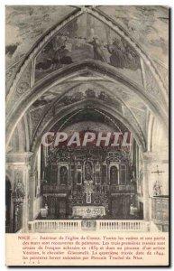 Nice - Interior of & # 39Eglise Cimiez - Old Postcard