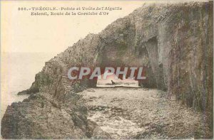566 Old Post Card theoule tip and vault of Esterel road needle of the cornice...