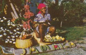 Jamaica Young Girl Selling Fruit 1964