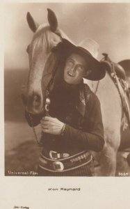 RP: Cowboy Actor Ken Maynard with his horse, 1920-40s