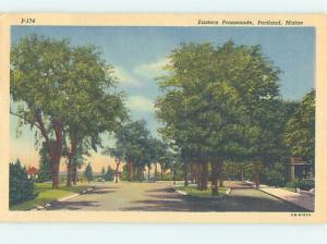 Linen STREET SCENE Portland Maine ME W1896