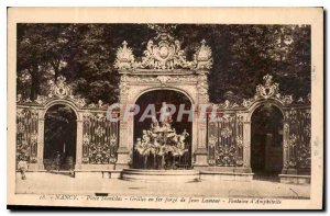 Old Postcard Nancy Place Stanislas Jean grid iron forge love Fountain of Amph...