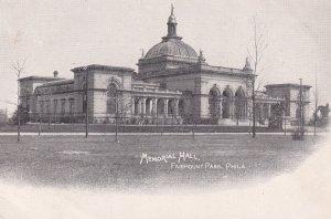 FAIRMOUNT PARK, Pennsylvania, 1901-1907; Memorial Hall