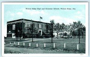 WALNUT RIDGE, Arkansas AR ~ Walnut Ridge HIGH & GRAMMAR SCHOOLS c1920s  Postcard