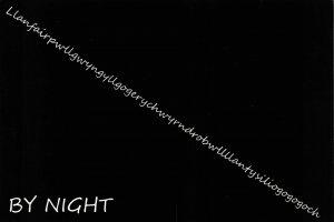 NEW Postcard, Llanfairpwllgwyngyll by Night, Humor, Novelty, Fun, Funny DJ1
