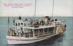 Glass Bottom Power Boat Empress showing the Submarine Garden at Catalina Is...