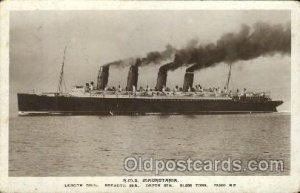R.M.S. Mauretania Cunard Ship Ships Postcard Postcards Unused