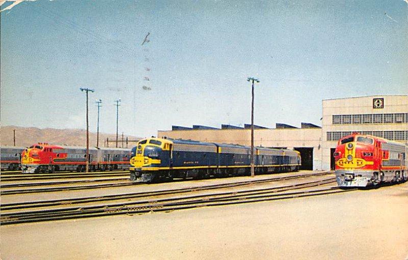 California Train Postcard Barstow, California Largest maintenance and repair ...