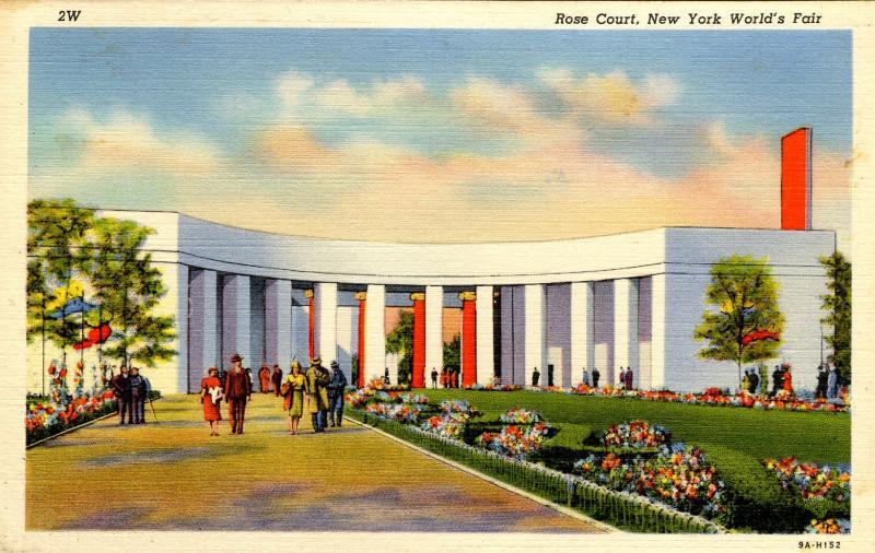 NY - 1939 New York World's Fair. Rose Court