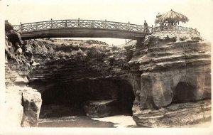 RPPC Sunset Cliffs Foot Bridge San Diego, CA c1910s Vintage Photo Postcard