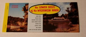 VINTAGE POSTCARD OVERSIZED ALBUM THE LOWER DELLS OF THE WISCONSIN RIVER