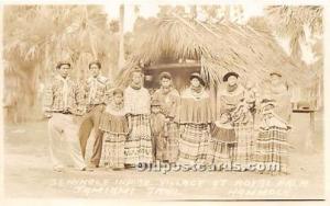 Real Photo Seminole Indians, Florida USA Postcard Village at Royal Palm, Tami...