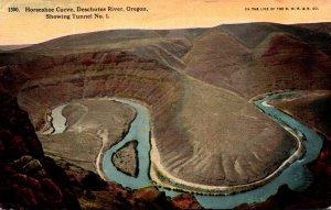Oregon Deschutes River Horshoe Curve Showing Tunnel No 1
