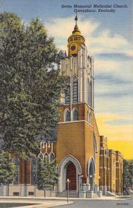 Owensboro Kentucky Settle Memorial Methodist Church Antique Postcard K55039