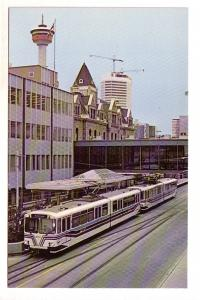 Calgary, Alberta, Transit LRT Car, 2nd St Station