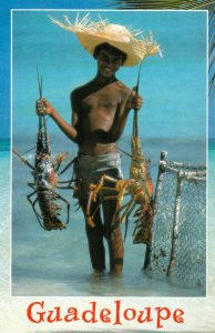 GUADELOUPE , 50-70s ; Lobster Fisherman