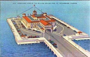 St Petersburg FL -  Million Dollar Pier from the AIR, 1930/40s