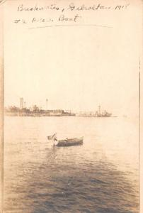 Gibraltar Breakwater Motor Boat Real Photo Antique Postcard J40637