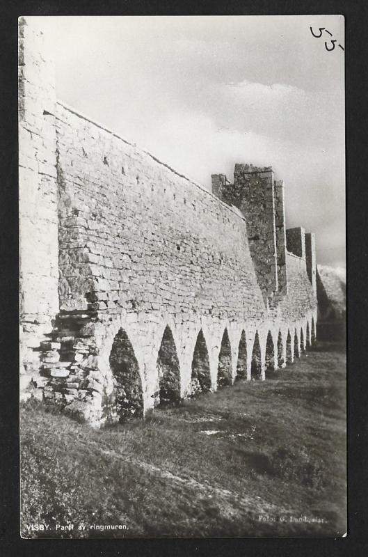 Ring Wall @ Visby Sweden RPPC unused c1920's