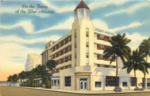 Linen Roadside Postcard; Town House Hotel Miami Beach on the Blue Atlantic Shore
