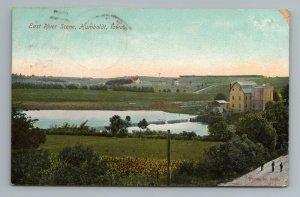 East River Fort Dodge Des Moines RPO RMS Cancel Rail Humboldt Iowa Postcard