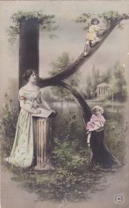 RP: Fantasy Alphabet Postcard , 1901-07 ; Letter  K  ; NPG