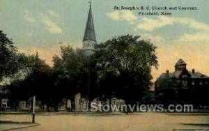 St Joseph's RC Church & Convent Pittsfield MA Unused