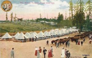 1908 Seattle Alaska Yukon AYPE Military Encampment Washington postcard 458