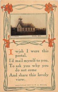 F97/ Miller Nebraska RPPC Postcard c1910 U.B. Church 19