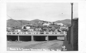 Nogales Sonora Mexico Puente De La Carretera Real Photo Antique Postcard K9783