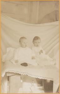 RPPC-Two babies in a bassinet #2