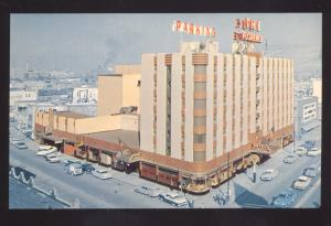 MISSOULA MONTANA THE FLORENCE HOTEL 1950's CARS OLD ADVERTISING POSTCARD