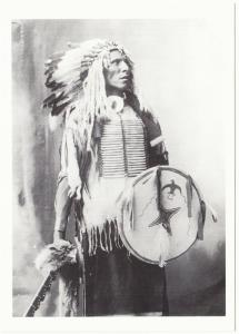 Swift Dog Sioux in Omaha 1898 Native American Modern Postcard
