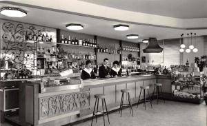 Budoia Italy Allergo de Rene Bar Restaurant Interior Real Photo Postcard J67806