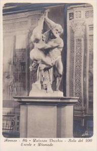 Italy Firenze Palazzo Vecchio Sala del 500 Ercole e Diomede Real Photo