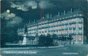 France DIJON la nuit Hotel de la Cloche by night moonlight