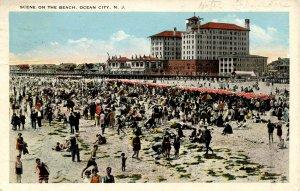 NJ - Ocean City. Beach Scene