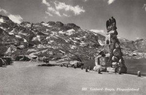 Gotthard Hospiz Hospice Switerland Real Photo Postcard