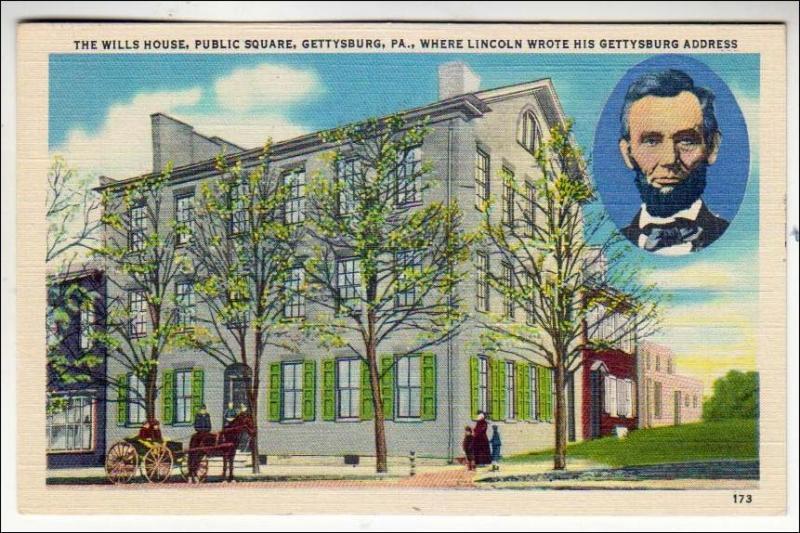 Wills House, Public Square, Gettysburg PA